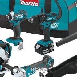 Makita Cordless Combo Kit 18 Volt Lithium Ion 7 Power Tool Saw Drill Driver 18V