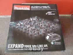 Makita Cordless Drill Driver 18V Compact Lithium Ion Combo Set CT225 (NJL014189)
