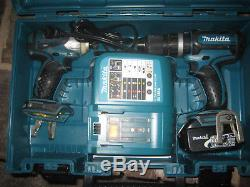 Makita Cordless Drill Driver And Impact Driver Set With Case, Battery & Charger