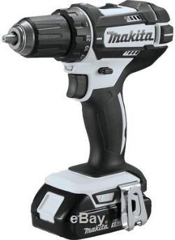 Makita Cordless Drill Impact Driver Combo Kit Flashlight Batteries Charger Bag