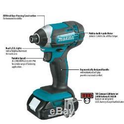 Makita Cordless Driver Drill and Impact Driver Combo Kit 2 Power Tool Set 18 V