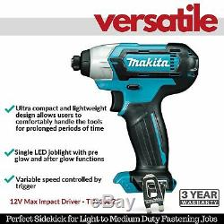 Makita Cordless Impact Drill Driver Combo Kit Li-Ion Batteries Charger Carry Bag