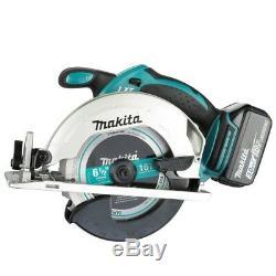 Makita Cordless Tool Combo Kit 18-Volt LXT Work Light Circular Saw Hammer Drill