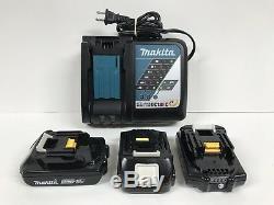 Makita Ct225r 18v Lxt Li-ion Cordless Driver Drill, Impact Driver, (3) Batteries