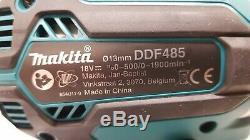 Makita DDF485Z 18v LXT Brushless 2-Speed Drill Driver 1 x 3Ah BL1830B Batteries