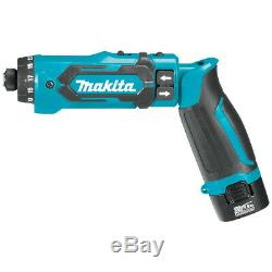 Makita DF012DSE 7.2-Volt 1/4-Inch Auto-Stop Clutch Cordless Hex Driver-Drill Kit