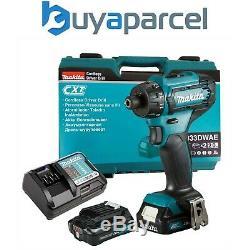 Makita DF033DWAE 12V Max 10.8V CXT 1/4 Hex Drill Driver Compact 2x Batteries