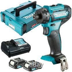Makita DF033DZ 12V Max CXT Hex Drill Driver + 2 x 2.0Ah Batteries Charger & Case