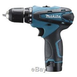 Makita DF330DWE 10.8V Li-ion Cordless Drill Driver Full Set / 220V Charger