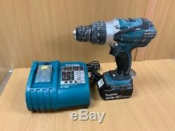 Makita DHP 18v Cordless Combi Drill / 5.0Ah Battery RO 113909