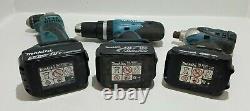 Makita DHP453, BTD140 & BDA351 18V Drill Set Bundle with x3 Batteries & Charger