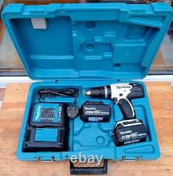 Makita DHP453 SFEW 18V LXT White Cordless Combi Drill 2 x 3.0Ah Batteries