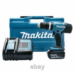Makita DHP453FX12 18v Combi Drill With 1x 3.0Ah Battery & 101 Pcs Accessory Set