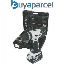 Makita DHP453SMWX 18v Combi Hammer Drill + 101 Piece Screwdriver Bit Set + 4ah