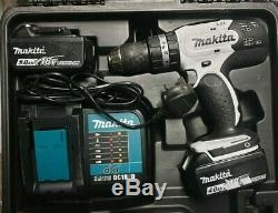 Makita DHP453WX12 18v LXT Cordless Combi Drill 2x Batteries + Accessories Kit