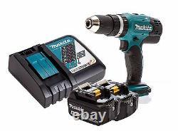 Makita DHP453Z 18v LXT Combi Drill + 2x BL1840B 4ah Batteries + DC18RC Charger