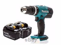 Makita DHP453Z 18v Lithium LXT Combi Drill + 2x BL1840B 4ah Batteries