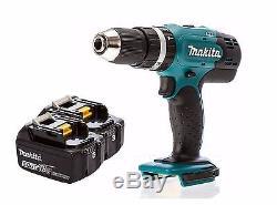 Makita DHP453Z 18v Lithium LXT Combi Drill + 2x BL1850B 5ah Batteries
