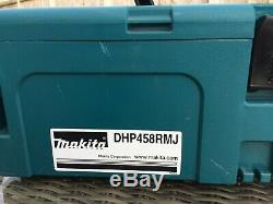 Makita DHP458RMJ 18V Li-ion Cordless Drill CHARGER. BATTERY. CASE