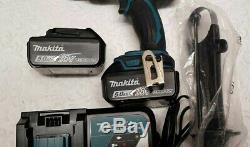 Makita DHP458RTJ LXT 18v Combi Hammer Drill 2x 5.0Ah BL1850B batteries & Charger