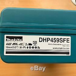 Makita DHP459SFE 18V LXT Li-ion Brushless Combi Hammer Drill 2 Batteries BL1830B