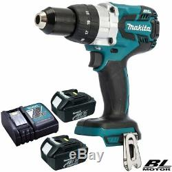 Makita DHP481Z 18V Brushless Combi Hammer Drill With 2 x 3Ah Batteries & Charger