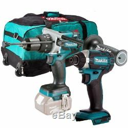 Makita DHP481Z 18V LXT Brushless Combi Drill With DTD152Z Impact Driver & Bag