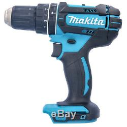Makita DHP482 18V Combi Drill + 2 x 3Ah Batteries & Charger With 70pc Acc. Set