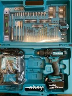 Makita DHP482 Lithium Ion Combi Drill + 1 BL1830 + DC18SD + 101 Accessory Case