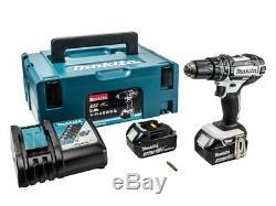 Makita DHP482RFWJ 18v Cordless Combi Drill + 2 Batteries 3 AMP Batteries + Case