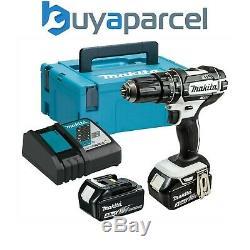 Makita DHP482RFWJ 18v LXT Combi Hammer Drill White 2 x 3.0ah Batteries + Charger