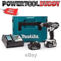Makita DHP482RFWJ 18volt Li-ion Combi LXT Drill White 2 x 3.0Ah BatteriesPTB