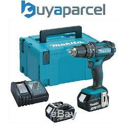 Makita DHP482RMJ 18v LXT Combi Hammer Drill 2 x 4.0ah Batteries + Charger