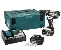 Makita DHP482RTWJ 18V Li-ion LXT Combi Drill Set 2 x 5Ah Batteries & Charger