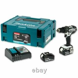 Makita DHP482RTWJ 18V Li-ion LXT Combi Drill with 2 x 5Ah Batteries & Charger