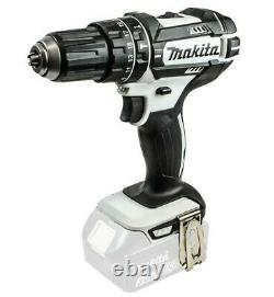 Makita DHP482YWJ 18v LXT Combi Hammer Drill White 2 x Batteries, Charger, Case