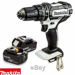 Makita DHP482Z White LXT Li-ion 18V Combi Drill With 2 x 4Ah Batteries