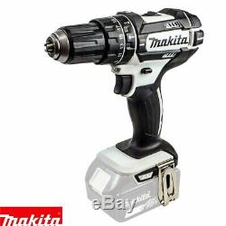 Makita DHP482Z White Li-ion 18V Combi Drill With 1 x 3Ah Battery & Charger