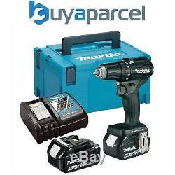 Makita DHP483RMJB 18v Black Brushless Compact Combi Hammer Drill 2 x 4.0ah