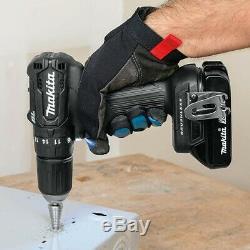 Makita DHP483RTJB 18v Black Brushless Compact Combi Hammer Drill 2 x 5.0ah