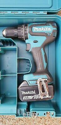 Makita DHP485 18v LXT brushless combi hammer drill 3.0Ah battery, charger