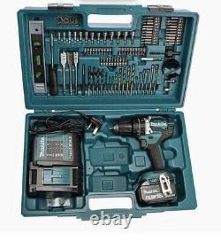 Makita DHP485STX5 18V Cordless Combi Drill Kit 5.0Ah Battery Bits Case