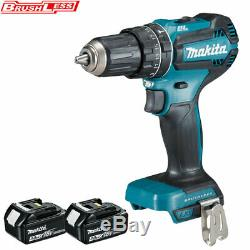 Makita DHP485Z 18V LXT Brushless Combi Drill With 2 x 3.0Ah BL1830 Batteries