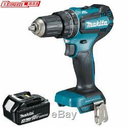 Makita DHP485Z 18V LXT Li-ion Brushless Combi Drill With 1 x 3Ah BL1830 Battery