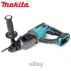 Makita DHR202 18V LXT SDS+Hammer Drill +17 Pcs SDS Drill Bit Set & keyless Chuck