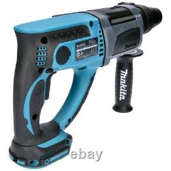 Makita DHR202 18V SDS+ Rotary Hammer Drill With LXT400 Bag & 4pc Chisel Set