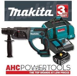 Makita DHR202RF 18V Cordless li-ion SDS+ Rotary Hammer Drill (1 x 3Ah Battery)