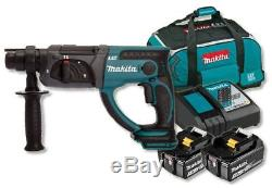 Makita DHR202RFE 18V Cordless li-ion SDS+ Rotary Hammer Drill (2 x 3Ah Battery)