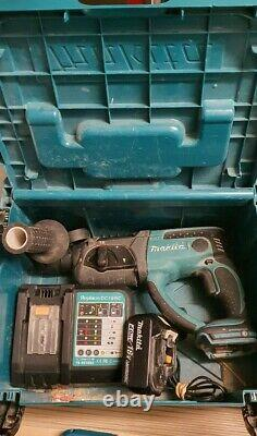 Makita DHR202RMJ 18v SDS Plus LXT Hammer Drill 1x 4.0ah battery charger and case