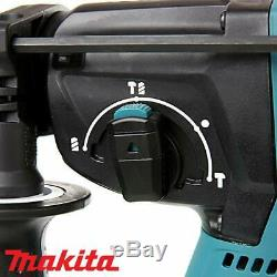 Makita DHR242 18V Brushless SDS+ Rotary Hammer Drill With 4 Piece SDS Chisel Set